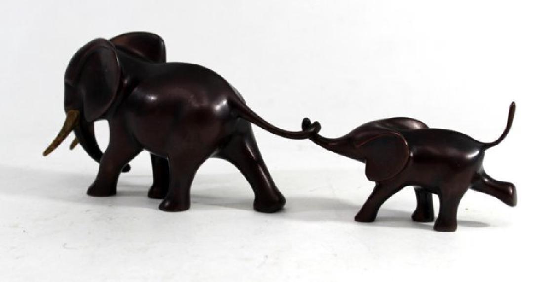Loet Vanderveen Bronze Elephant Mother & Child