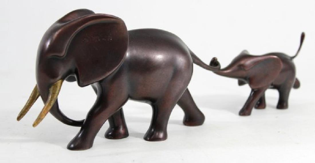 Loet Vanderveen Bronze Elephant Mother & Child - 2