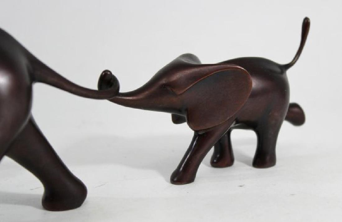 Loet Vanderveen Bronze Elephant Mother & Child - 4