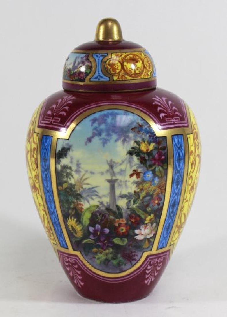 German Porcelain Covered Urn