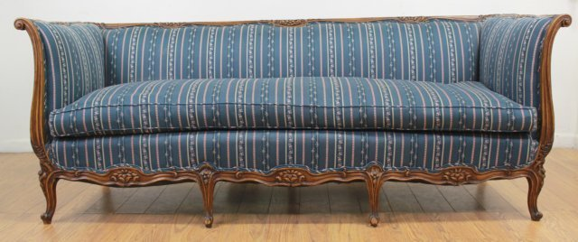 :Carved Walnut Couch