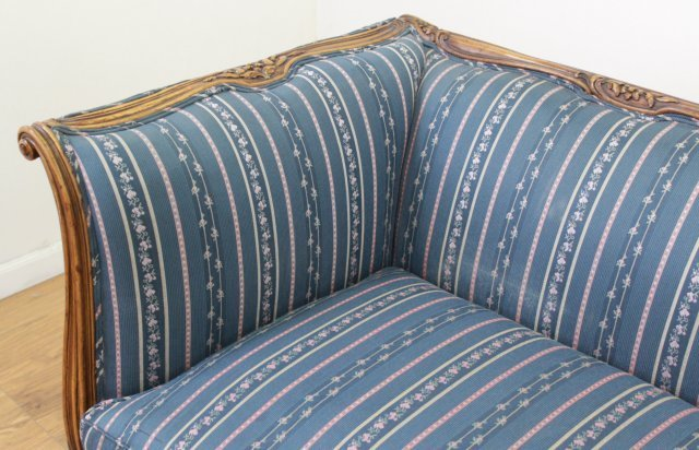 :Carved Walnut Couch - 3