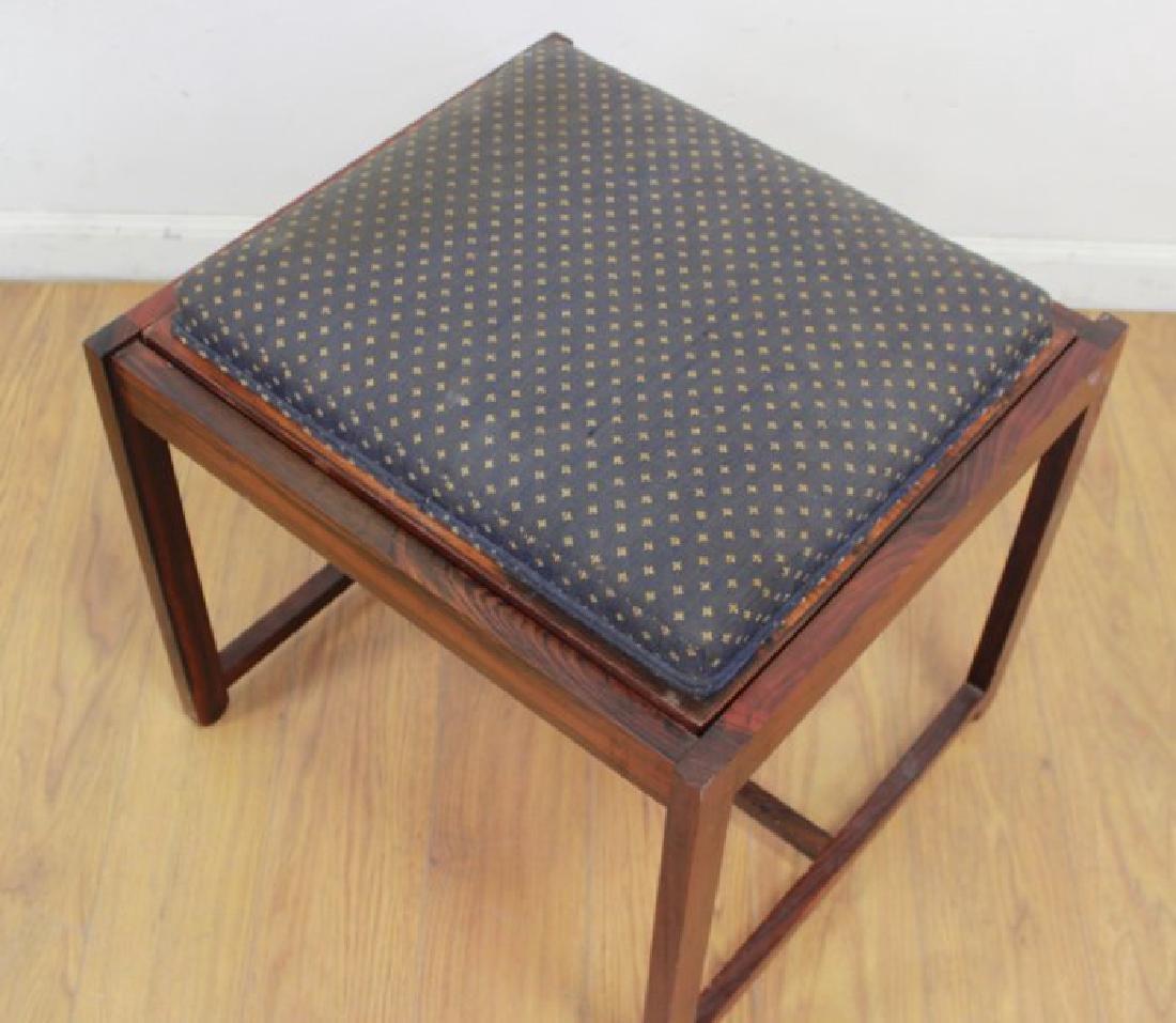 Scandinavian Rosewood Convertible Bench/Side Table - 2