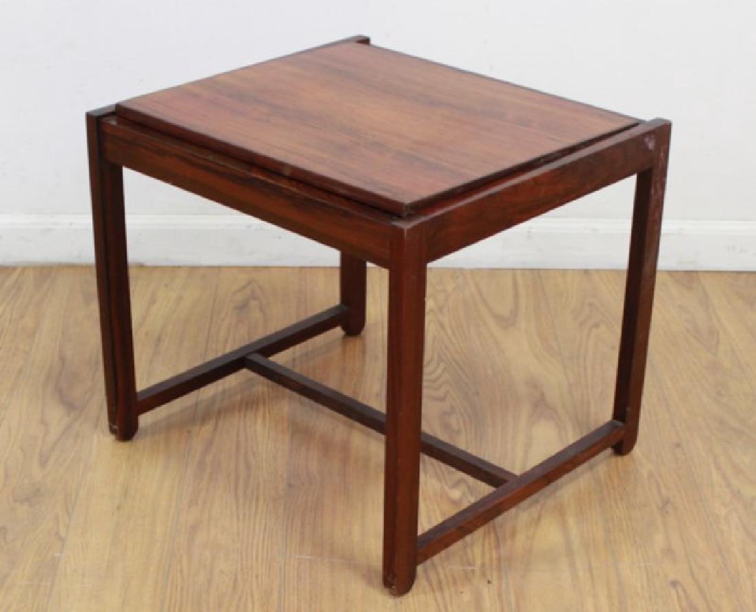 Scandinavian Rosewood Convertible Bench/Side Table - 3