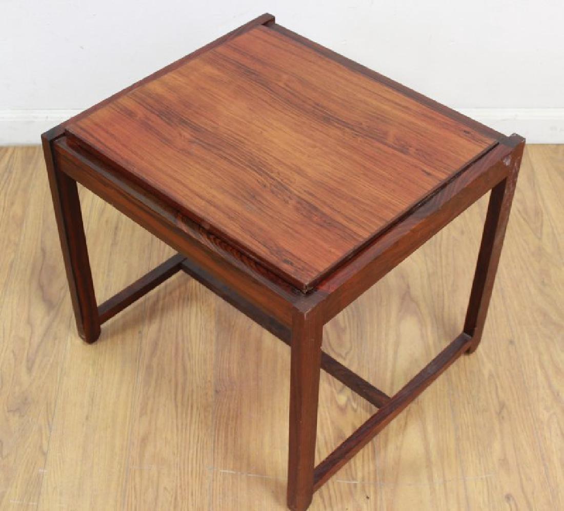 Scandinavian Rosewood Convertible Bench/Side Table - 4