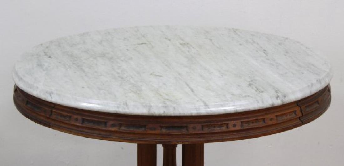 Marble Top Victorian Oval Table - 2