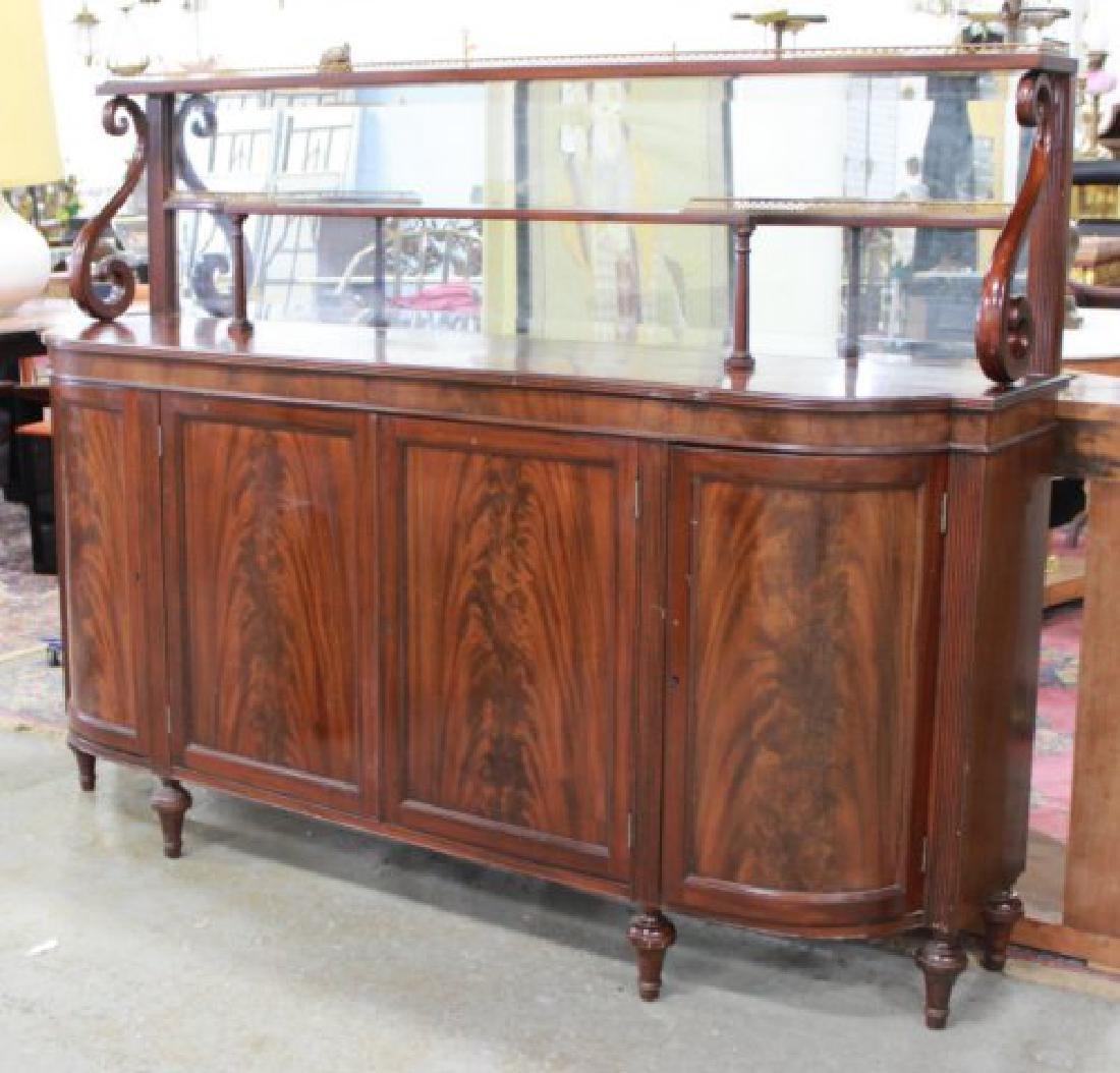 Circa 1930s Regency Style Mahogany Sideboard