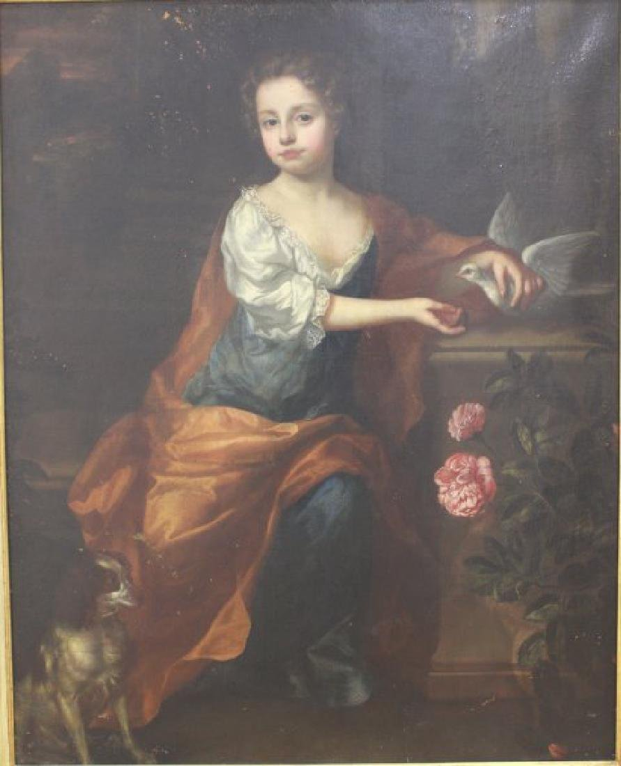 Attributed to Thomas Hill, Portrait of a Girl