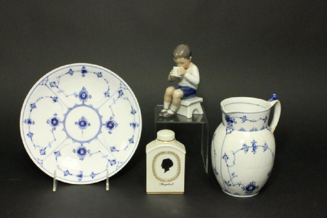 Group Lot 4 Royal Copenhagen Porcelain Pieces