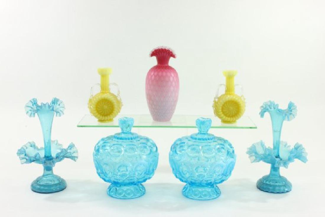 Group Lot Victorian Glass Pieces