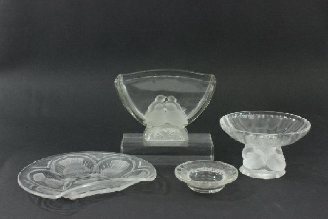 Lot of Glass Pieces Including Lalique