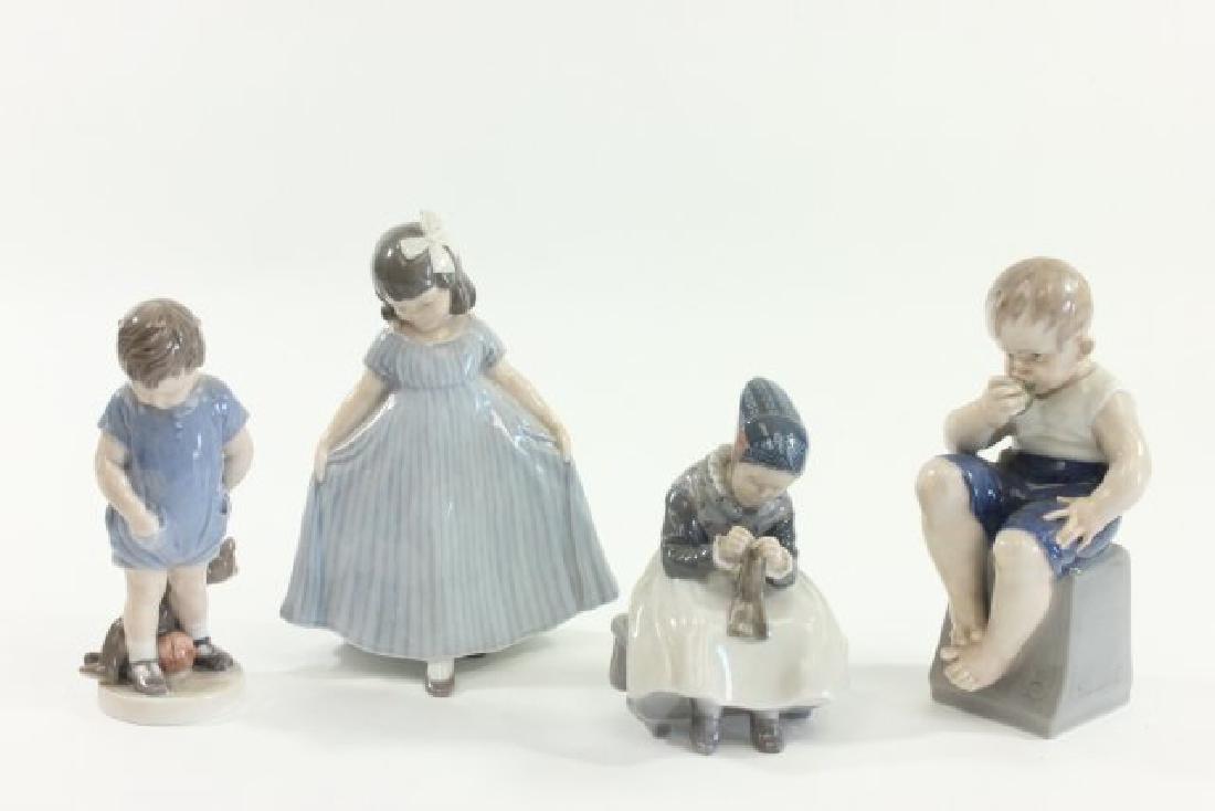 Group Lot 4 Royal Copenhagen Porcelain Figurines
