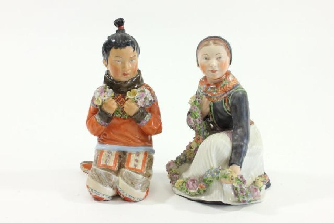 Lot 2 Royal Copenhagen Amager Figurines