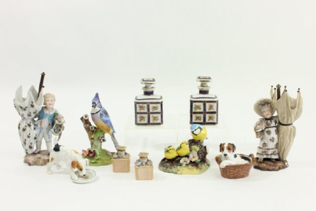 Group Royal Doulton & Crown Derby Porcelain Pieces