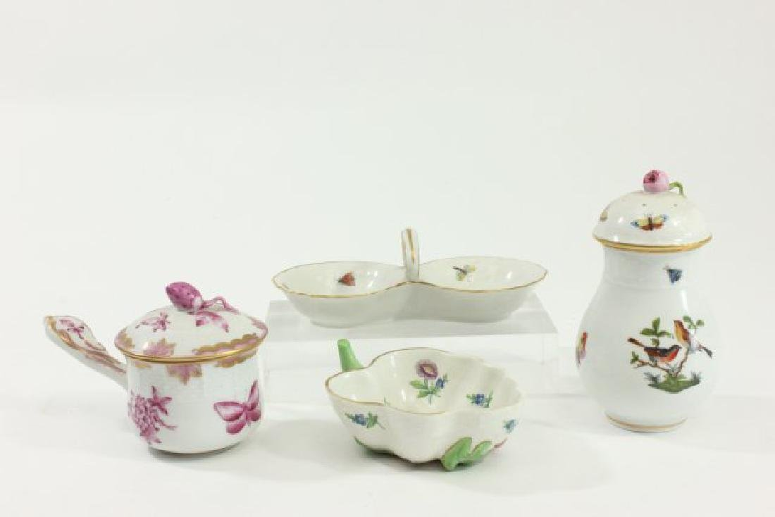 Lot 4 Pieces of Herend Porcelain
