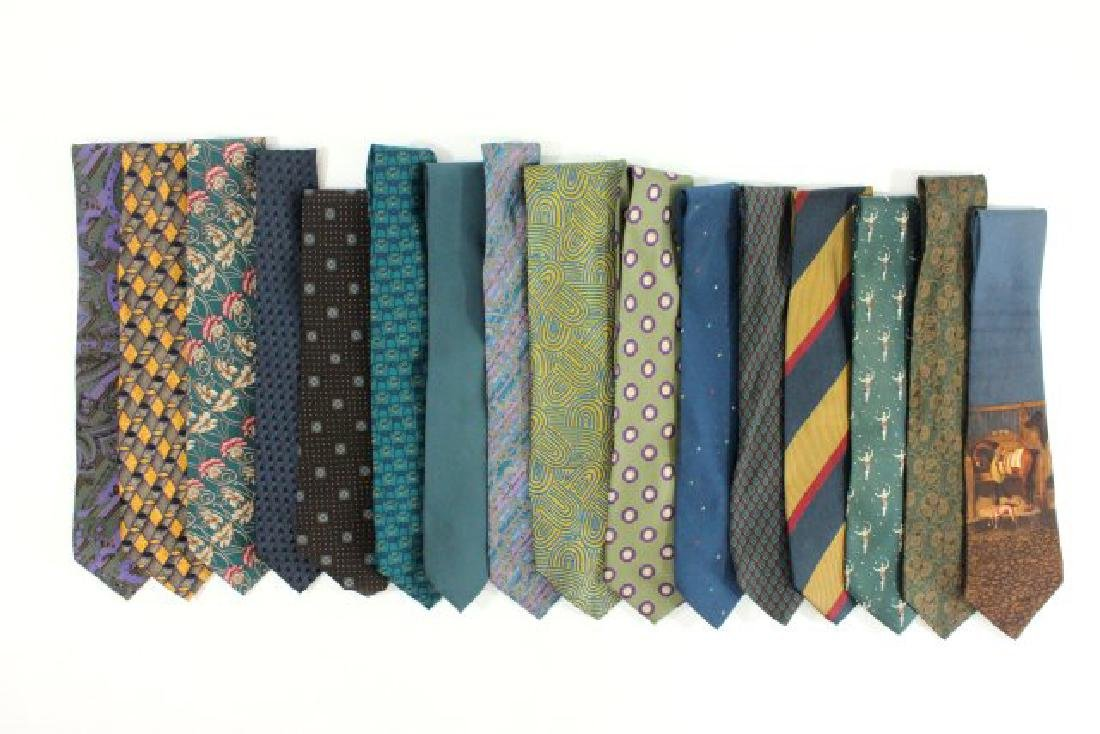 Lot 16 Men's Designer Vintage & Contemporary Ties