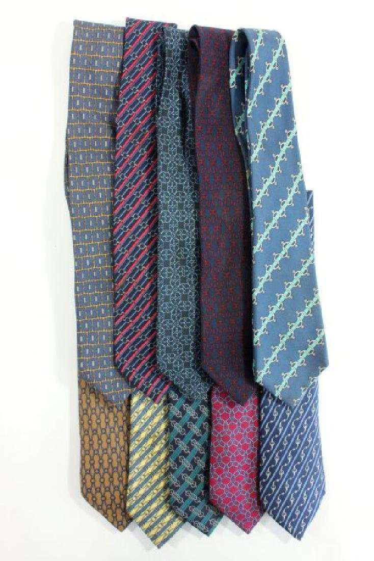 10 Hermès Paris Equestrian Pattern Silk Ties
