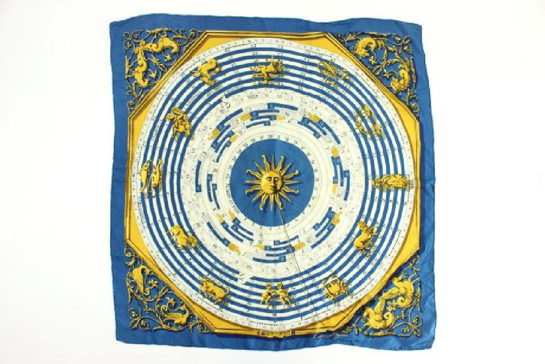 "Hermès Paris ""Astrologie"" Silk Scarf"