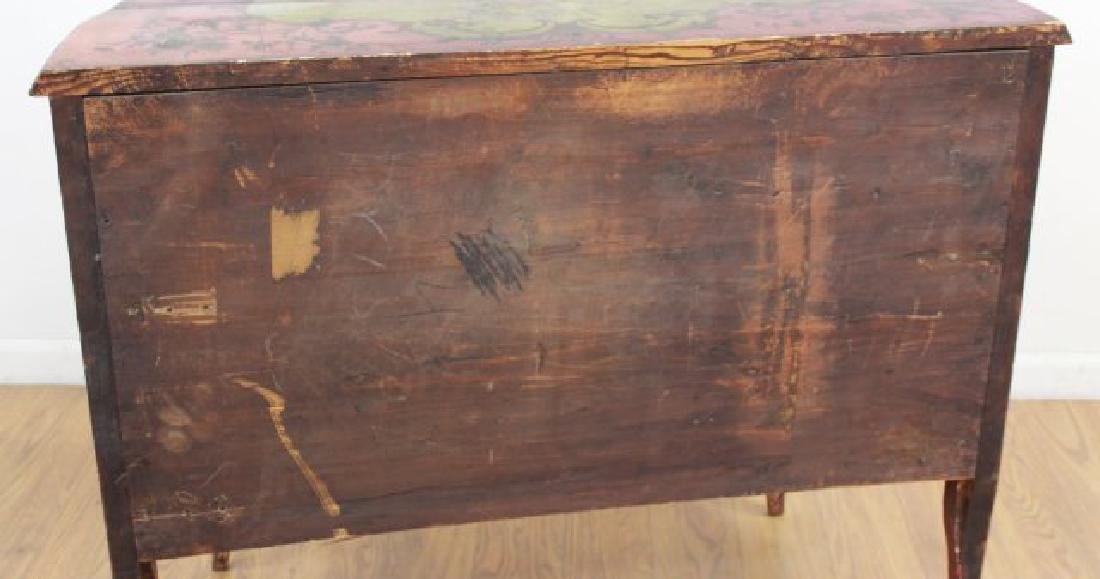 Venetian Style Paint Decorated Bombe Commode - 7