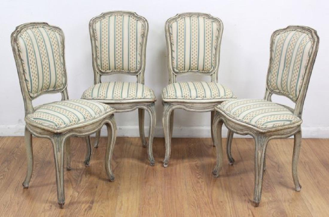 Set 4 French Style Bodart Side Chairs