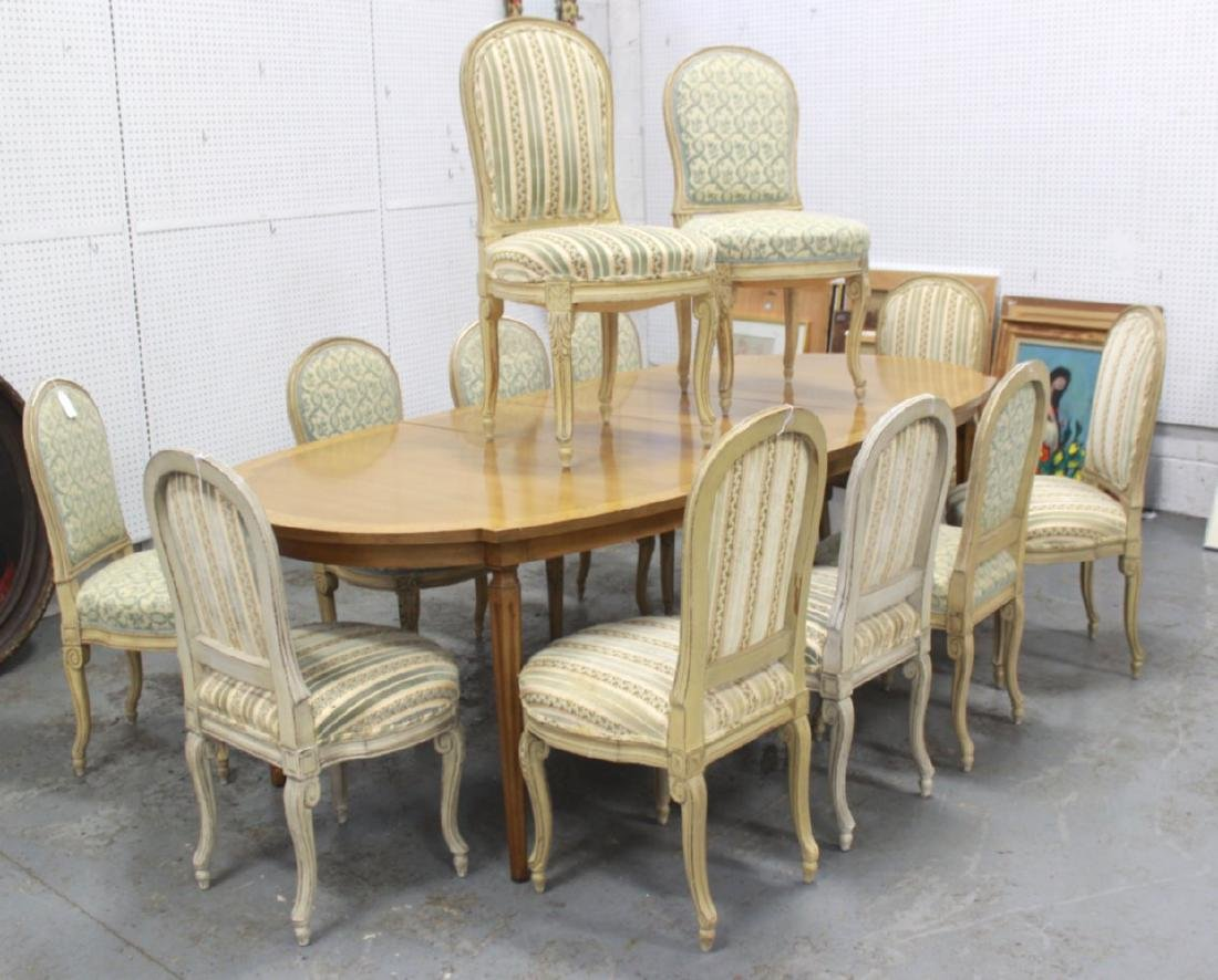 French Style Dining Table & 12 Bodart Side Chairs
