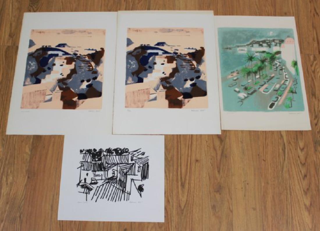 Francois Bret, 4 Lithographs