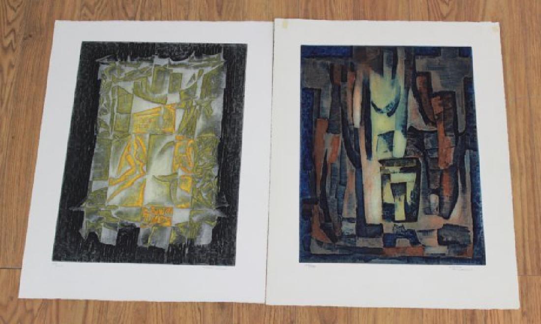 Marcel Fiorini, 2 Lithographs