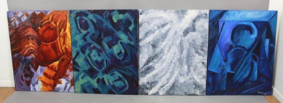 :Marie-Rose Kemp, 4 Abstract Paintings