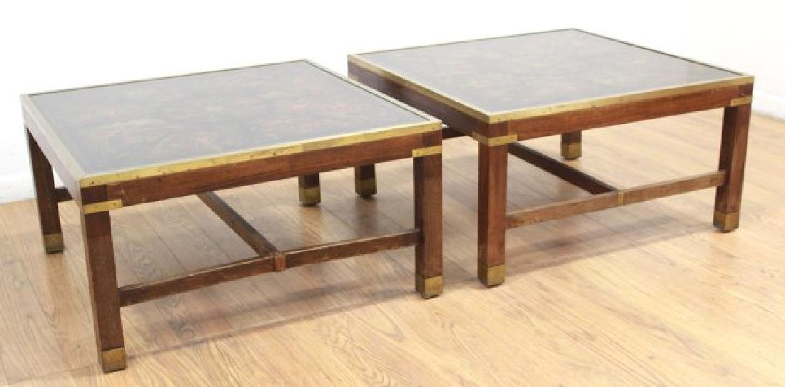 Pair Mid-Century Modern Square Coffee Tables