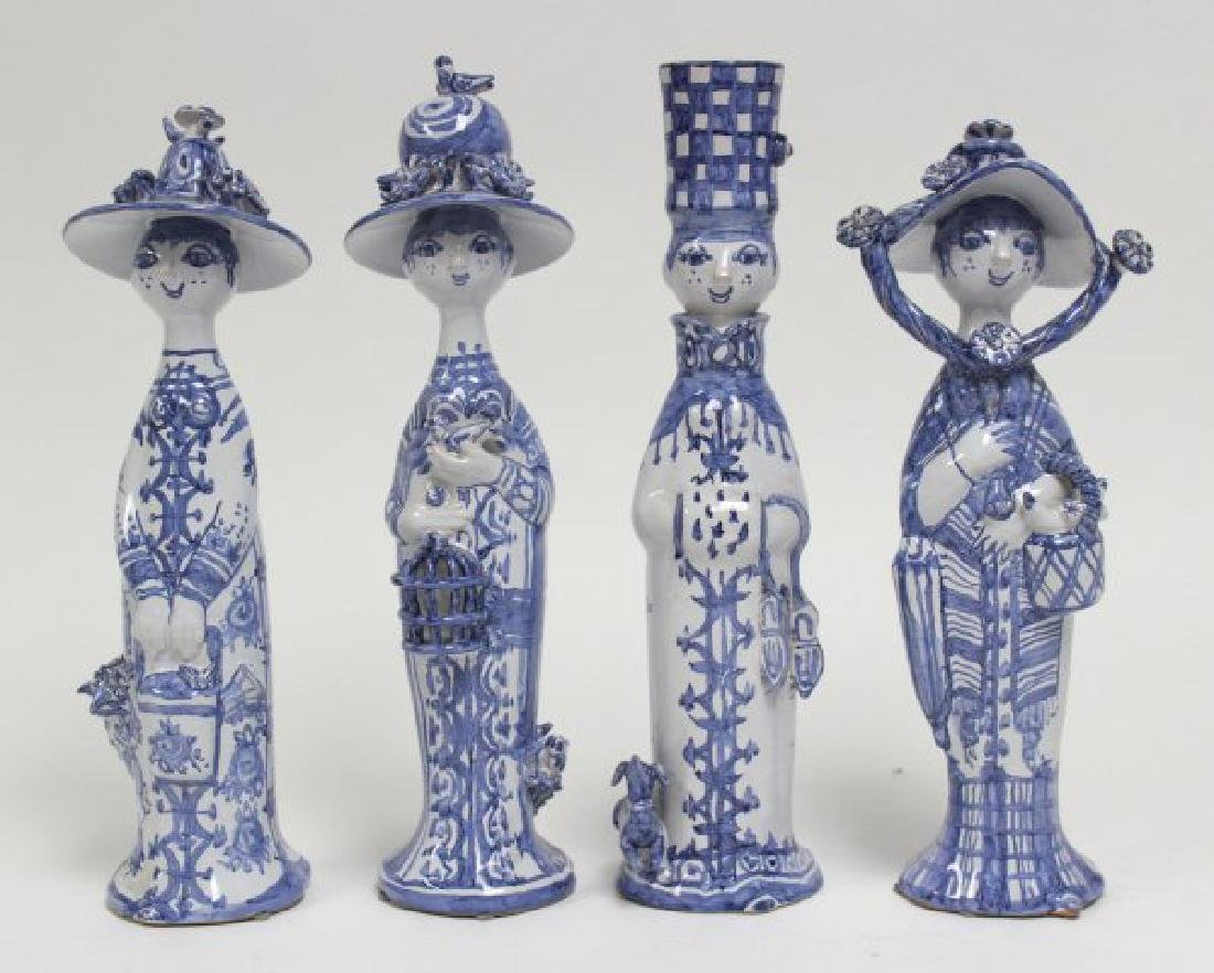 Four Seasons by Bjorn Wiinblad Pottery Figurines