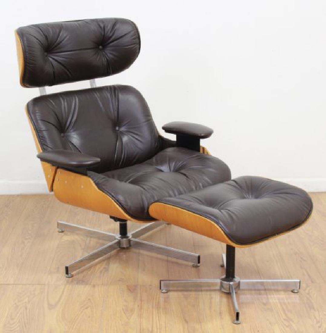 Charles Eames Style Lounge Chair & Ottoman