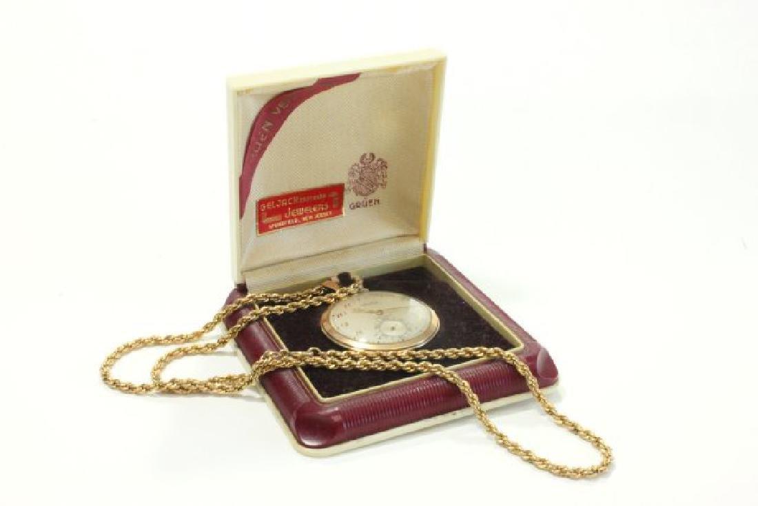 Gruen Veri Thin Gold Filled Pocket Watch