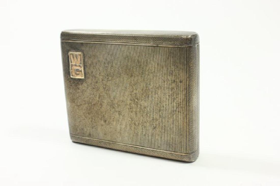 Alfred Dunhill Sterling Silver Cigarette Case
