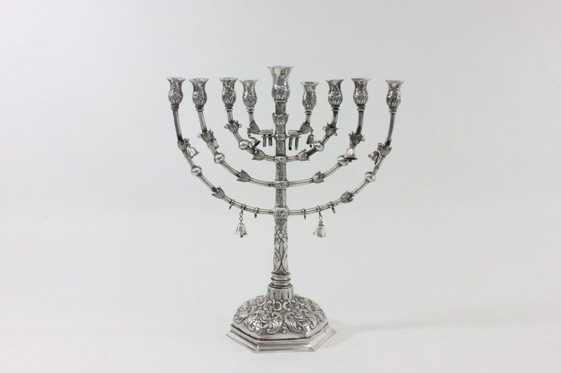 Late 19th Century Silver Menorah
