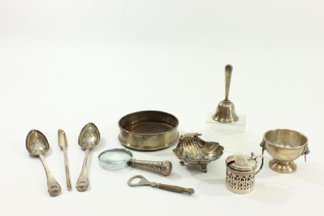 Group Lot 10 English Sterling Silver Items