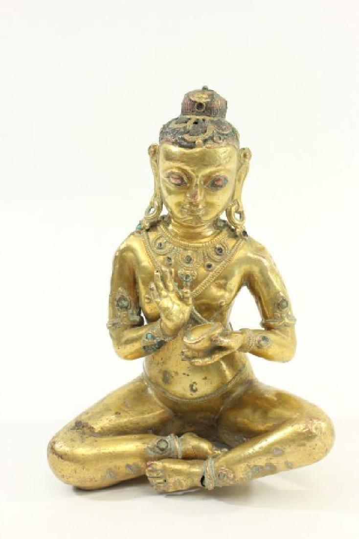 Gilt Bronze Indian Deity