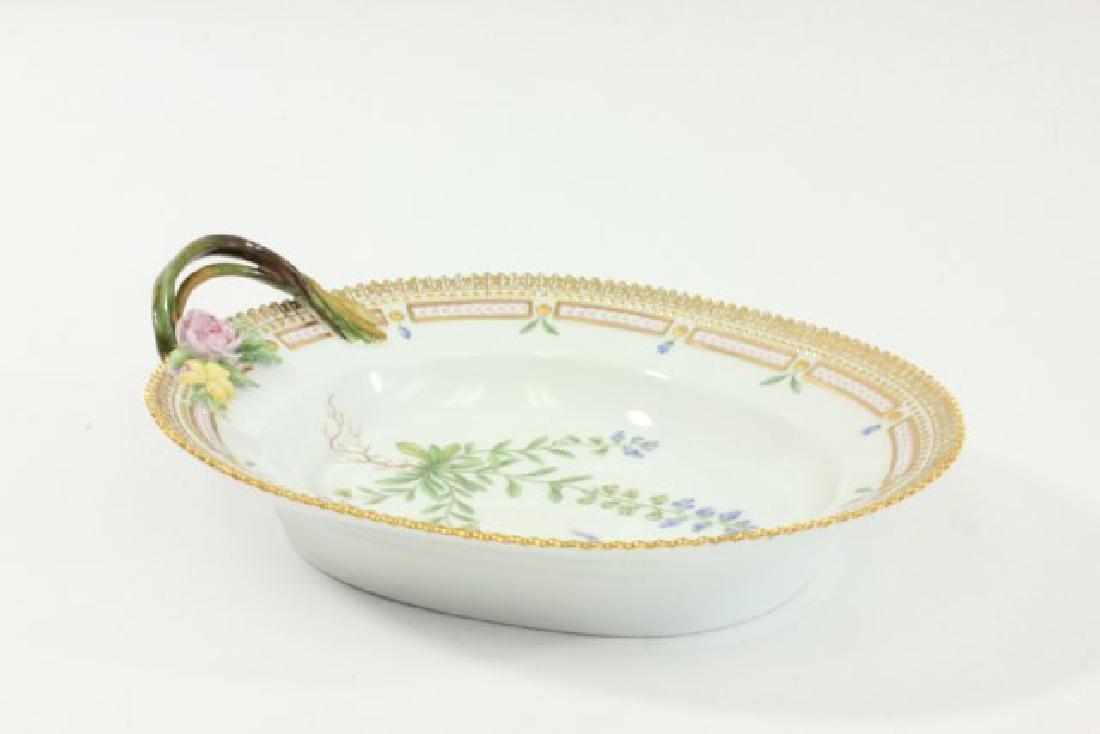 Royal Copenhagen Flora Danica Dish with Handle