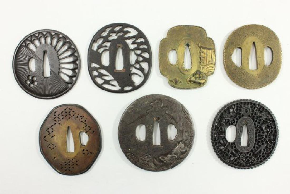 Lot of 7 Antique Japanese Tsuba