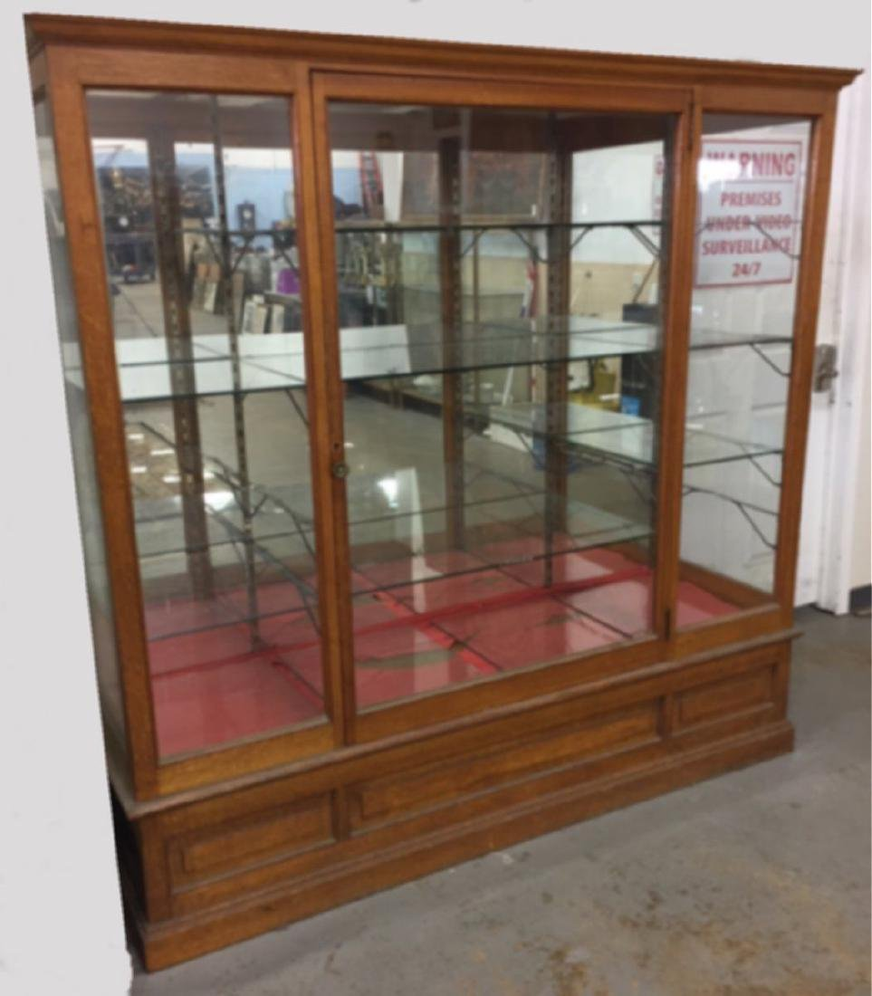 Oak & Glass Display Cabinet