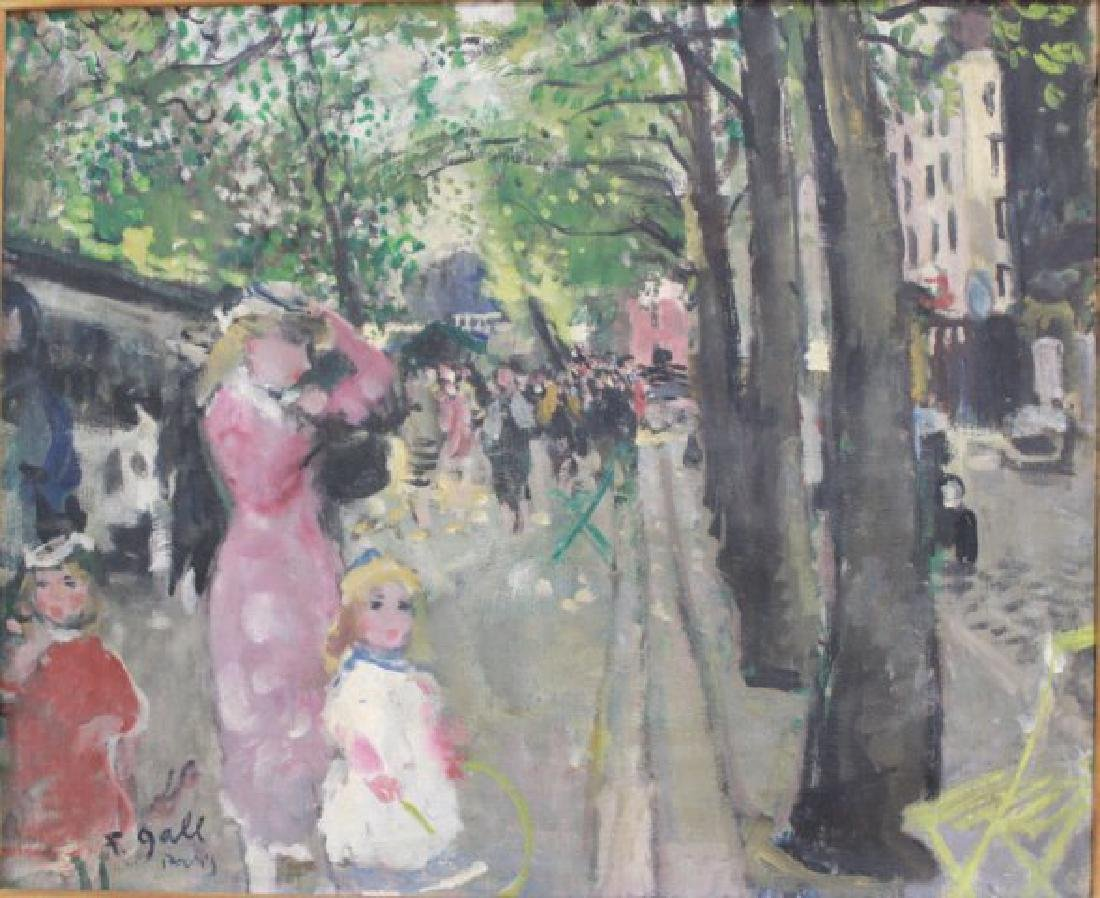 Francois Gall, Paris Street Scene