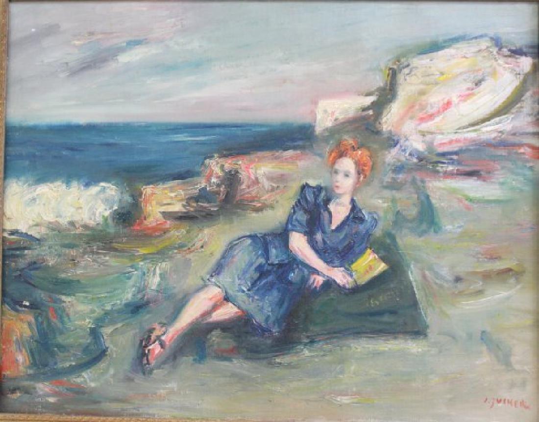 Jacques Zucker, Woman Lying on Beach