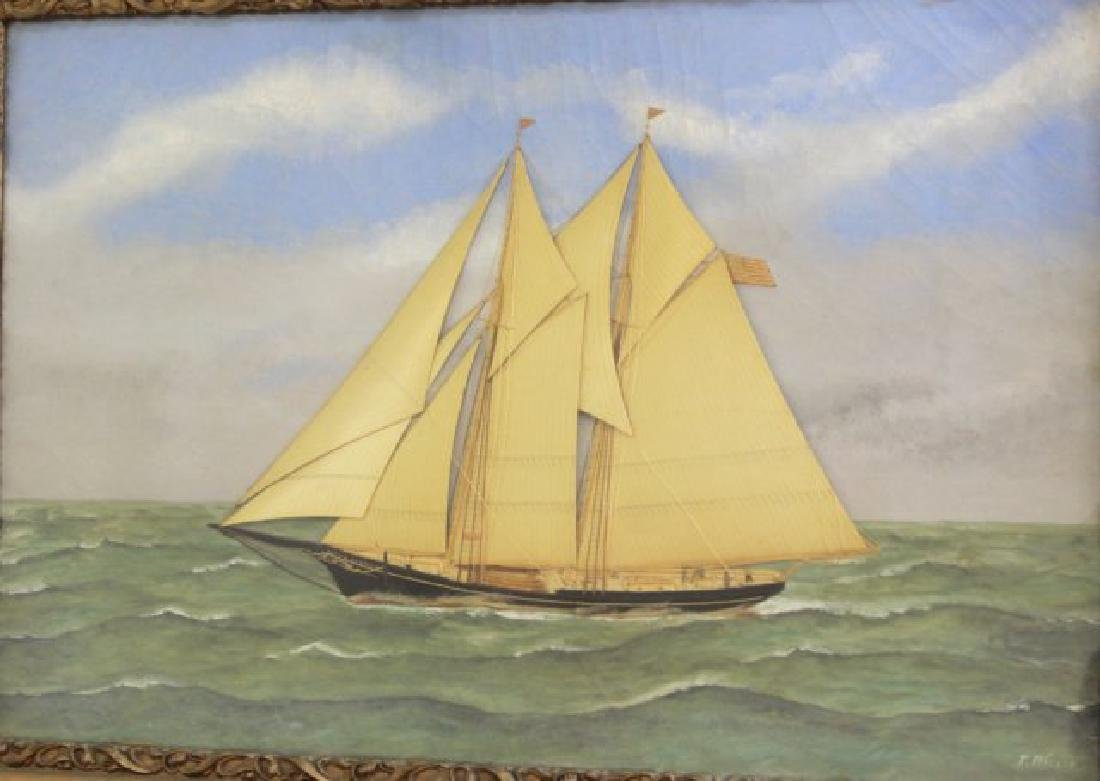 Thomas Willis, Sailboat with Silk Sails