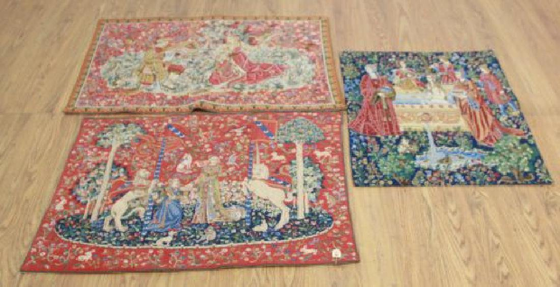 3 French Woven Tapestries