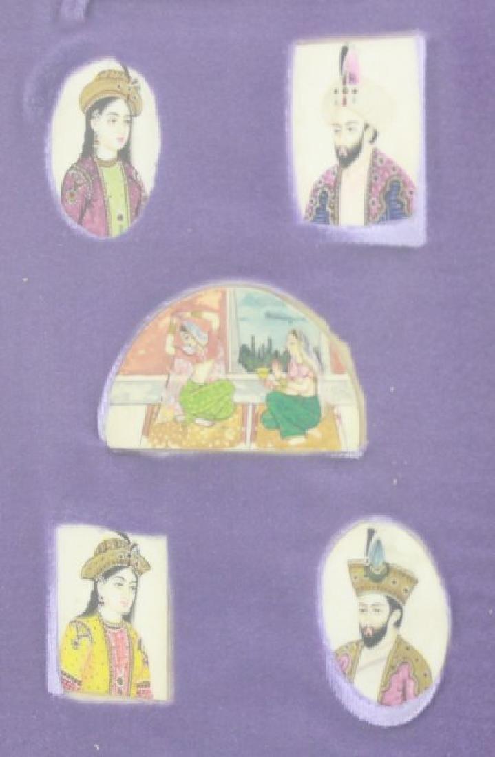 Moghul Handpainted Miniature Portraits