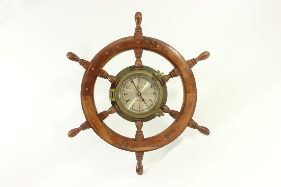 Ship's Wheel Porthole Clock