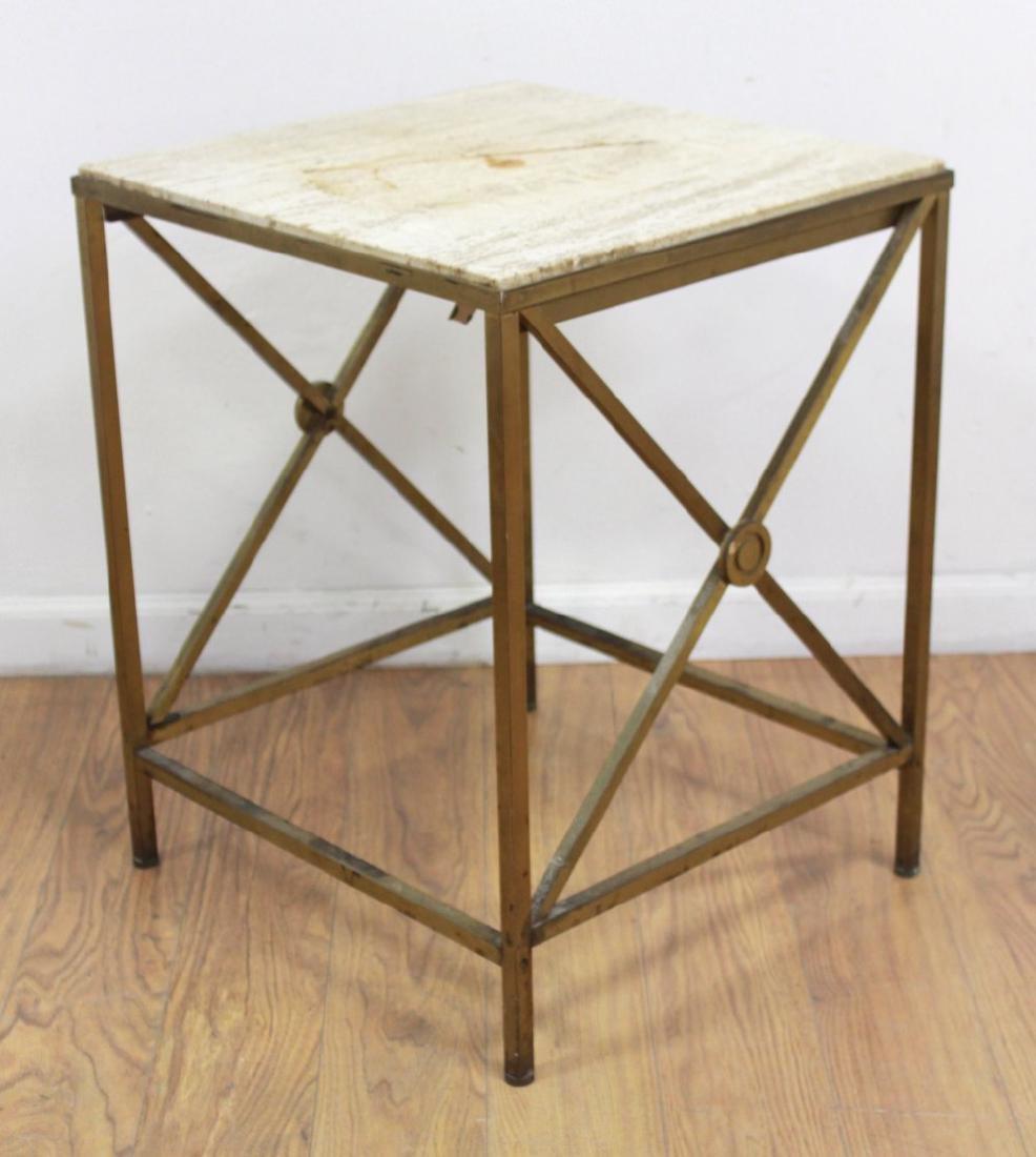 Mid-Century Modern Brass Side Table