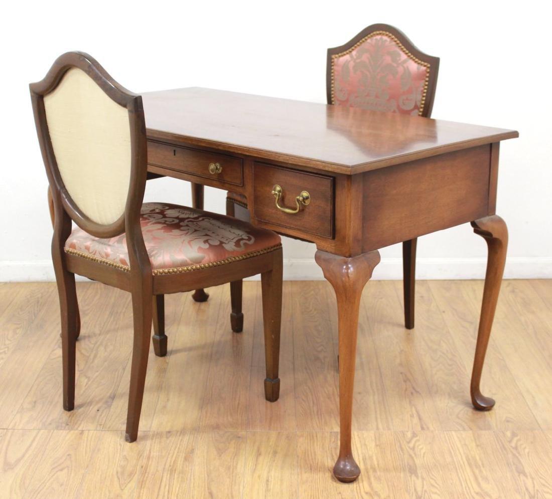 Biggs Mahogany Ladies Desk & 2 Chairs