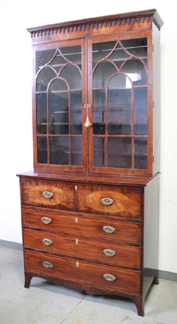 English George III Mahogany Butler Secretary Desk