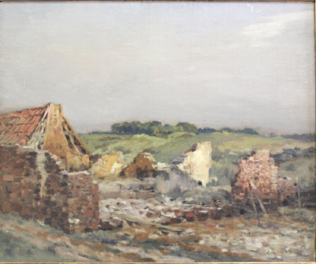 Jean Charles Cazin, Landscape with Farmhouse Ruins