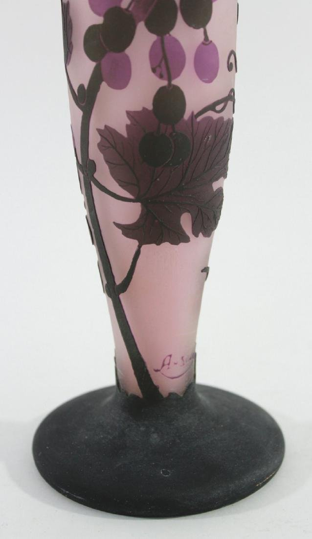 German Contemporary Art Glass Cameo Vase - 4
